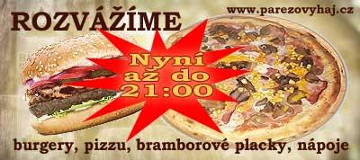 Osvěžovna U pařezu, rozvoz pizzy, burgerů, bramborových placků a nápojů, Frýdek-Místek - Stránky se otevřou do nového okna